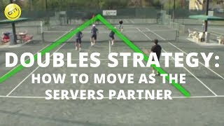 In this tennis doubles strategy tip OTI Instructor Gregg le Sueur shows you how to move at the net when you are the server's...