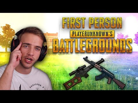FIRST PERSON NOOB!!! (Player Unknown's Battlegrounds)
