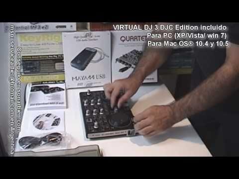 Hercules dj control mp3 e2 usb, Infrasonic quartet pci, Esi-audio maya 44 usb en sonarbien