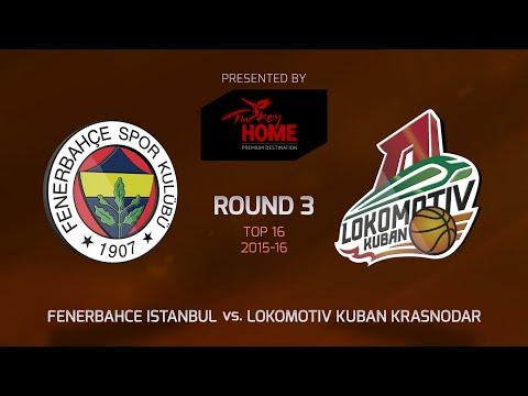 Highlights: Top 16, Round 3, Fenerbahce Istanbul 85-79 Lokomotiv Kuban Krasnodar