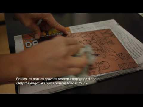 Garvure en taille douce  (Document Musée de l'imprimerie et la communication graphique de Lyon)