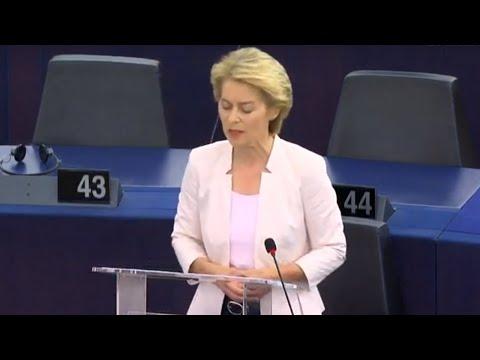 Sitzung des EU-Parlaments & Bewerbungsrede von Ursula ...