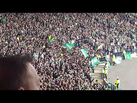 Celtic Fans Celebrating at Hampden | Celtic vs Aberdeen
