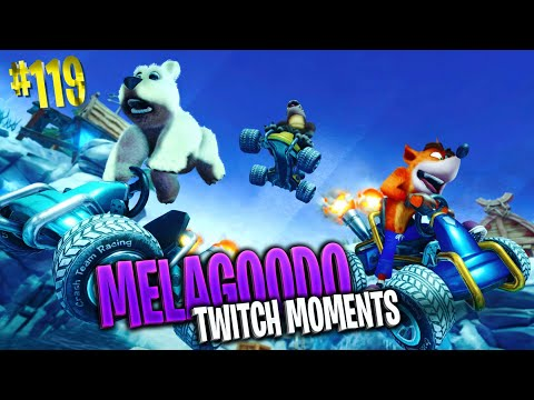CRASH TEAM RACING ALL'ULTIMA PREGHIERA MELA EDITION  Melagoodo Twitch Moments [ITA] #119