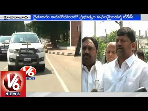 T TDP Leaders met Governor and submitted report on TRS governance  Hyderabad