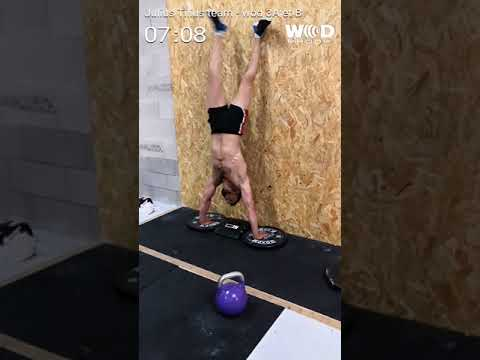 Julius Tilius Team wod 3 fittest of magma (видео)