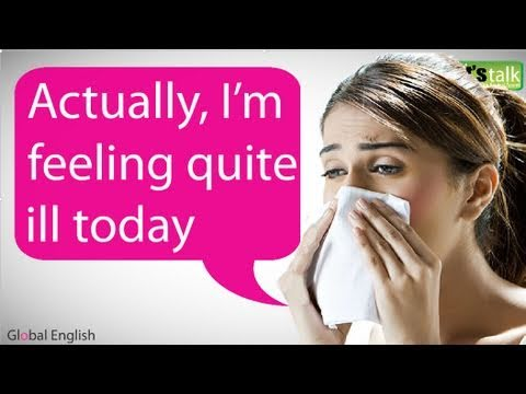 ESL - Esl English Lesson 02 : http://www.letstalkpodcast.com Lesson Introduction: It's Monday morning and you wake up sick! How do you tell your boss? This lesson ...