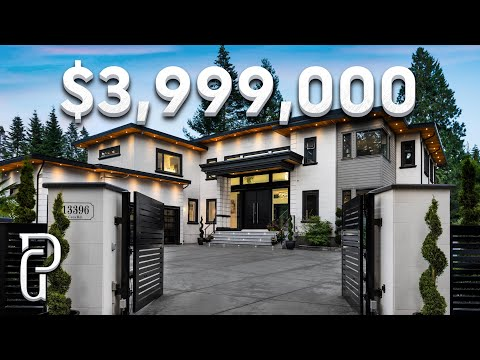 Inside a $3,999,000 Modern House in South Surrey, British Columbia | Propertygrams Mansion Tour