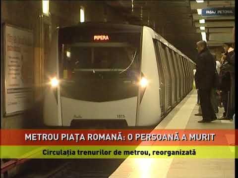 O persoană a murit, după ce a fost lovită de metrou, în stația Piața Romană