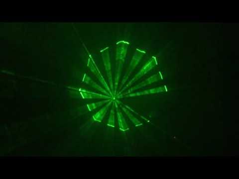 Đèn laser xanh 120mw quét tia ấn tượng