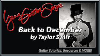 YGS - Back to December - Taylor Swift - Beginner Acoustic Guitar Lesson
