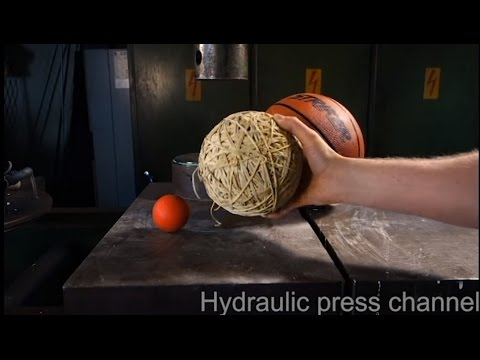 Crushing Balls With a Hydraulic Press