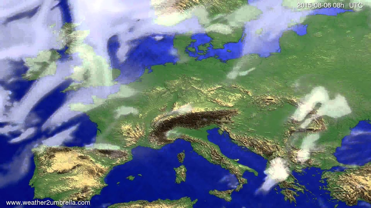 Cloud forecast Europe 2015-08-03