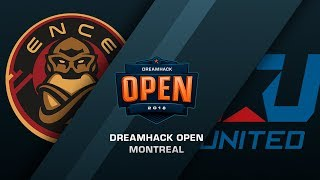 ENCE vs eUnited - DreamHack Open Montreal - de_mirage [Enkanis, ceh9]