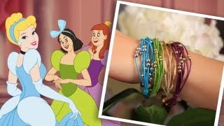 DIY Cinderella Inspired Bracelets | An Anneorshine | Disney Exclusive - YouTube
