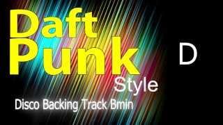 Disco Daft Punk Style Backing Track Bm