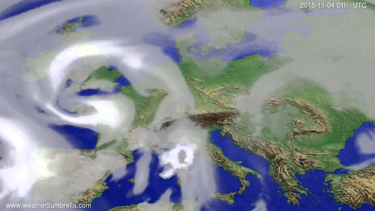 Cloud forecast Europe 2015-11-01