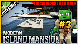 Minecraft 1.9 Modern Island Mansion Let's build (Jedi Mansion 3) E03(living room)