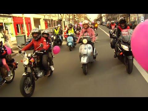 Motorrad-Demo in Paris: Bikerinnen für Frauenrechte