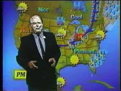 WDTV Weather Blooper Weatherman gets Pie in the Face