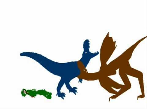 PsycoSpot Battles:Blue Theropod vs Suppa Alien