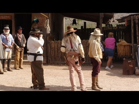 """""""Gun Fight at High Noon"""" Goldfield Ghost Town, Apache Junction, ARIZONA"""
