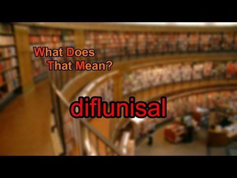 What does diflunisal mean?