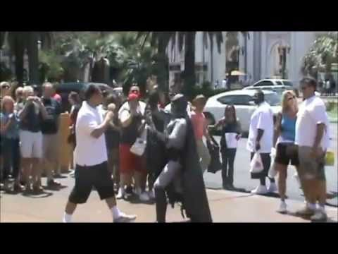 0 One Batman Gets Ass Kicked, Another Arrested