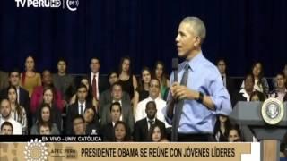 Obama tuvo encuentro con líderes juveniles de L.A.