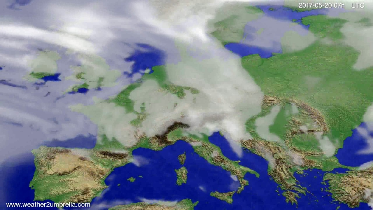 Cloud forecast Europe 2017-05-16