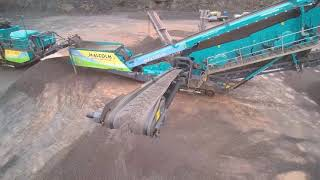 Powerscreen Chieftain 2200 at Malcolm's Quarry
