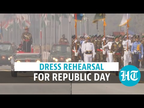 Watch: Full dress rehearsal for Republic Day parade on Jan 26, traffic diverted