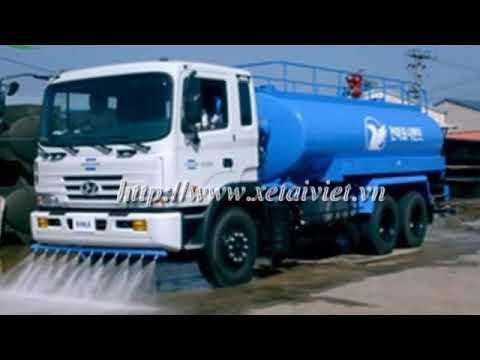 Xe phun nước rửa đường 6 khối dongfeng video