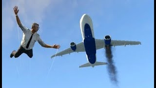 GTA 5- Airplane Worst Emergency Landing Ep #2- Stunning Compilation