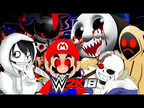 WWE 2K18 | 6-MAN HELL IN THE CELL Creepypasta Title Match