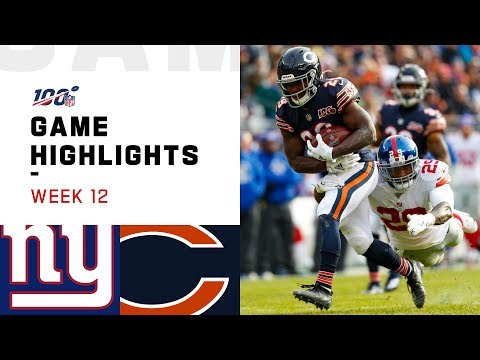 Giants vs. Bears Week 12 Highlights  NFL 2019