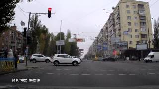 Видео аварии на бул Леси Украинки