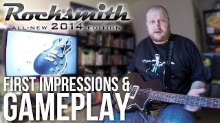 Following on from the unboxing of the Rocksmith 2014 Guitar Package (including black Epiphone Les Paul Junior guitar), James ...