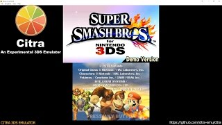 Citra (a 3DS emulator) now boots Sm4sh!