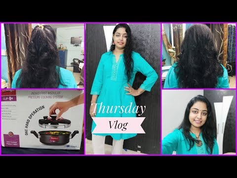 New hairstyle - #DIML#THURSDAYVLOGMY NEW HAIR CUT మీరే చెప్పండిMY NEW COOKER
