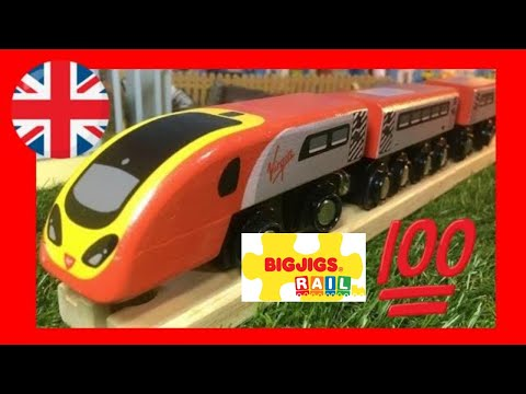Bigjigs Rail Virgin Trains Pendolino in motion BJT461 (03519)