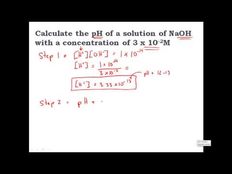 Calculating pH from [OH-] hydroxide Concentration - CLEAR & SIMPLE (видео)