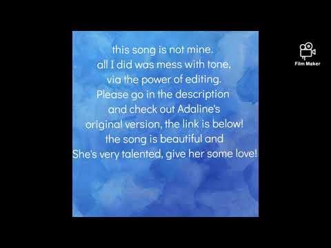 Ghost- Adaline (lower pitch version w/lyrics)