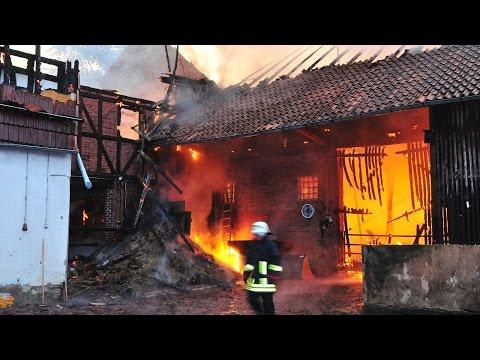 Großbrand zerstört Bauernhof