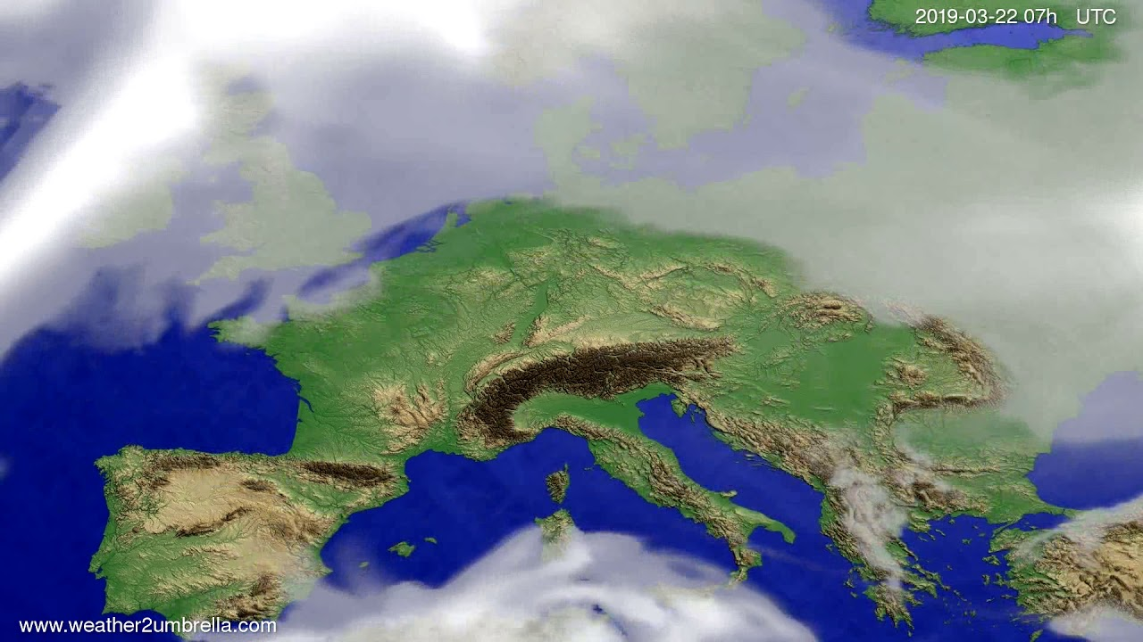#Weather_Forecast// Cloud forecast Europe 2019-03-20