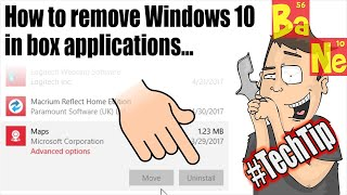 I show you how to use Powershell to forcefully remove the in-box Windows 10 applications that you cannot uninstall through the add/remove programs control panel because the 'uninstall' button is grayed out and disabled. You can also use 3rd party programs like DWS and CCleaner to remove these apps but I wanted to demonstrate how to do it with inbox applications so you can see that Microsoft is graying out the 'uninstall' button without a good reason. ▼ If you enjoy my videos please support me on Patreon ▼http://patreon.com/barnacules▼ Join me LIVE for Morning Coffee with Barnacules @ 8:30am PDT ▼http://twitch.tv/barnacules▼ Interact with me on Social Media (Don't be shy) ▼Twitter - http://twitter.com/barnaculesInstagram - http://instagram.com/barnaculesFacebook - http://facebook.com/barnaculesnerdgasmDiscord - http://discord.gg/barnacules▼ You can also tip me directly via PayPal  & include a message ▼http://bit.ly/helpbarnacules▼ Here is an important video if you installed Windows 10 Creators Update ▼https://www.youtube.com/watch?v=wPFbAqICUJo&t=25s▼ Powershell commands used in this video ▼Get-AppxPackageFindstr [AppHint]Get-AppXPackageRemove-AppXPackage -package [packagefullname]▼ Links to Equipment & Software I use to produce my videos ▼ Sony FDR-AX53 4k Camera - http://amzn.to/2hkJBo9Sony FDR-AX33 4k Camera - http://amzn.to/2hc6L1RSony NP-FV100 Extended Battery - http://amzn.to/2hhZYV0Manfrotto Professional Fluid Video Tripod - http://amzn.to/2grdC8sManfrotto Ballhead (Existing Tripod) - http://amzn.to/2gyCfyvJoby Gorilla Pod Focus - http://amzn.to/2hkJ6dFJoby Gorilla Pod Standard - http://amzn.to/2gNOCo4Joby Gorilla Pod Ballhead - http://amzn.to/2hi0jXLSennheiser MKE-440 Microphone - http://amzn.to/2hhEIfcZoom H6N Audio Recorder - http://amzn.to/2gyCn10Zoom H4N Audio Recorder - http://amzn.to/2hkNSbcAudio-Technica ATR3350 Lavaliere Microphone - http://amzn.to/2gyClGlLarge Aputure Light Storm LED Light Panel - http://amzn.to/2gNPdWQ Smaller Aputure LED Light Panel - http://amzn.to/2gNNKjjePhotoInc 500 LED Light Panels (Cheaper) - http://amzn.to/2gO2kY3Compact CFL lighting kit (Budget) - http://amzn.to/2gyAOQLAdobe Creative Cloud Software - http://adobe.com Sony Vegas Editing Software - http://amzn.to/2hi1tCk▼Come follow me on social media for behind the scenes stuff 24/7▼Twitter - http://twitter.com/barnacules (*My most active network)Instagram - http://instagram.com/barnacules Facebook - http://facebook.barnnerd.comBlog - http://blog.barnnerd.com▼ Discount on GT Omega Racing Office Chair ▼GT Omega Chairs @ http://bit.ly/1lA4h4K-or-Use code 'NERDGASM' at checkout!▼ Join My Folding@Home Team And Let's Find A Cancer Cure ▼Barnacules Nerdgasm Team # 231300Download Client @ http://folding.stanford.edu/** Top 10 contributors shown on Twitter weekly▼ Questions & Answers ▼Q) How do I restore the apps I removed if I want to?A) https://answers.microsoft.com/en-us/windows/forum/apps_windows_10-winapps/how-do-i-restore-my-windows-10-apps/73d3c329-0d38-4599-ac2e-361c41021d27