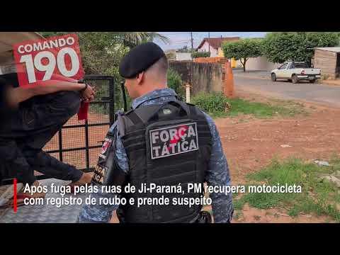 PERDEU - Ação rápida da PM recupera moto roubada