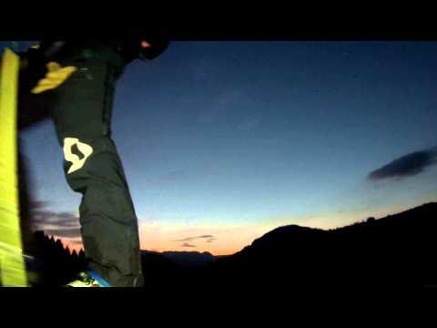 ILLONA CARLOD FREERIDE SKI - FREESKI- KNOG LAMPE PEAU DE PHOQUE NUIT 2 MN 2015 04 24