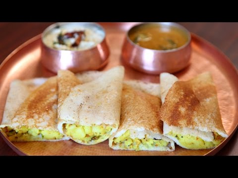 Masala Dosa Recipe | Popular South Indian Breakfast Recipe | Divine Taste With Anushruti
