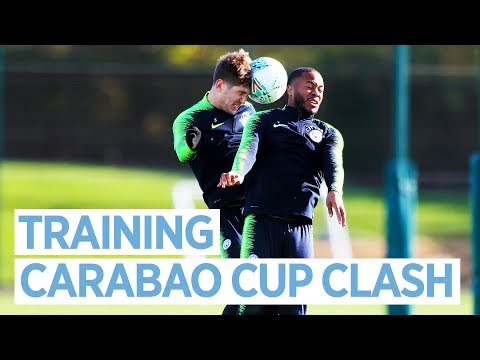 Video: STERLING v STONES | CARABAO CUP TRAINING